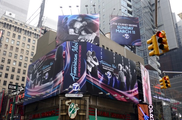 American Idol season 16 billboards Times Square NYC