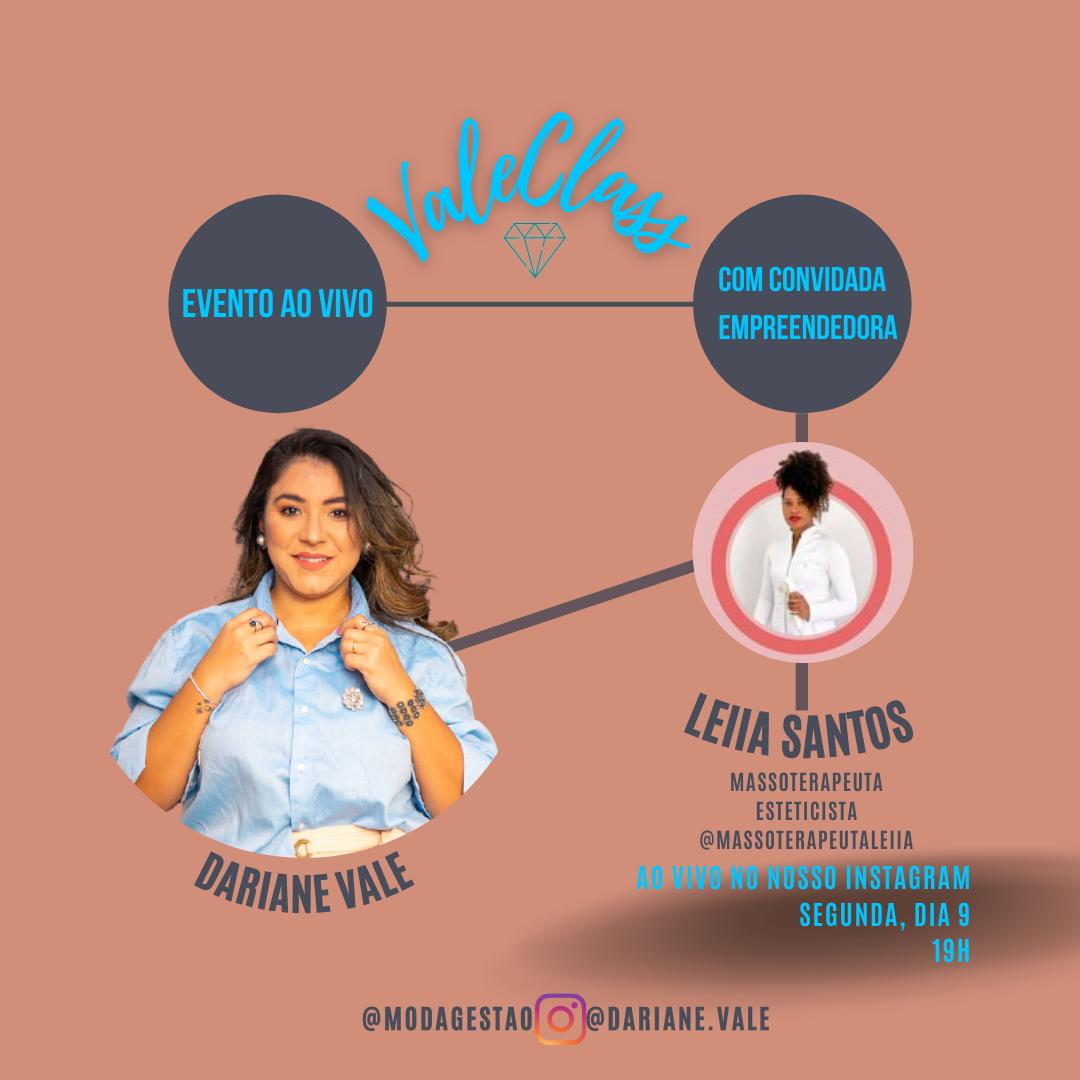 ValeClass: Evento ao vivo com a massoterapeuta Leiia Santos