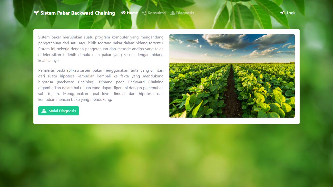 Aplikasi Sistem Pakar Berbasis Web Menggunakan Metode Backward Chaining - SourceCodeKu.com