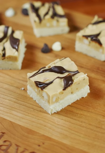 Marbled Peanut Butter & Chocolate Shortbread Bars
