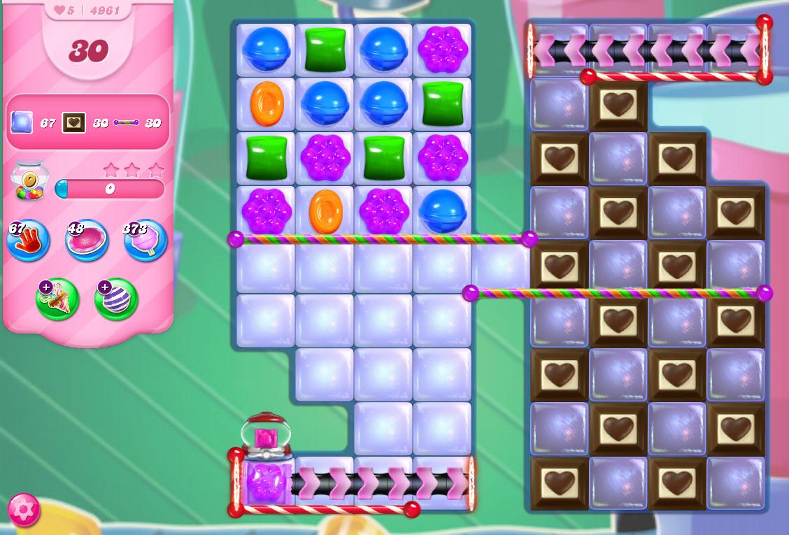 Candy Crush Saga level 4961