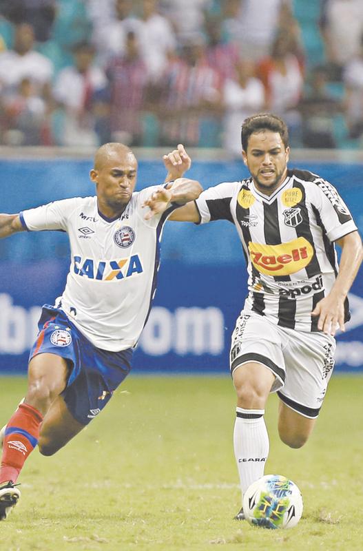 Ceará perde para o Bahia e se complica na Série B