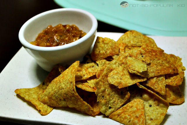 Pairing up some dip with the Doritos Nacho Chips!