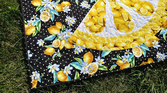 Lemon Zest quilt by Slice of Pi Quilts