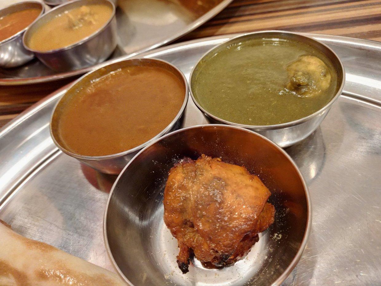 カレー2種類とタンドリーチキン@インドダイニング&バー ナン
