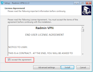 License Agreement RadminVPN