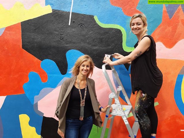 Finaliza el mural sobre juventud y tolerancia de Santa Cruz de La Palma