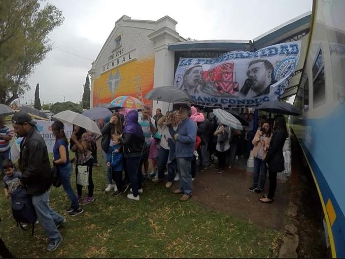 Santa Fe: Después de 40 años, volvió el tren al pueblo de Bombal