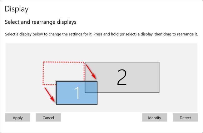 إعادة ترتيب يعرض في Windows 10