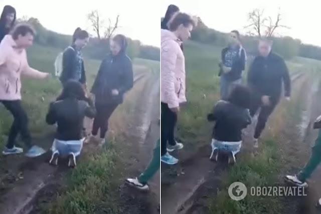 Под Харьковом подростки избили и поставили на колени девушку с инвалидностью, - ВИДЕО 18+