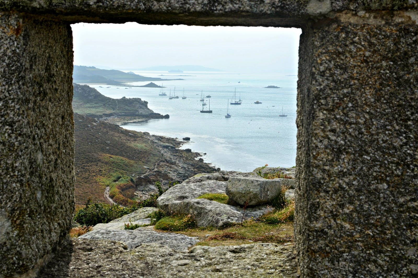 View from King Charles Castle Tresco Isles of Scilly