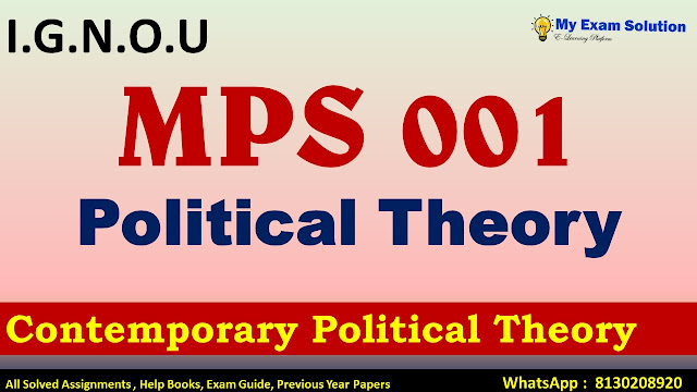 Contemporary political theory, A note on Contemporary political theory