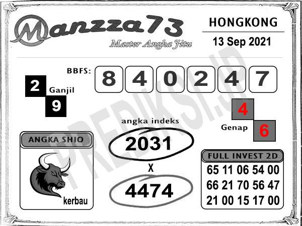 Bocoran Manzza73 HK Senin