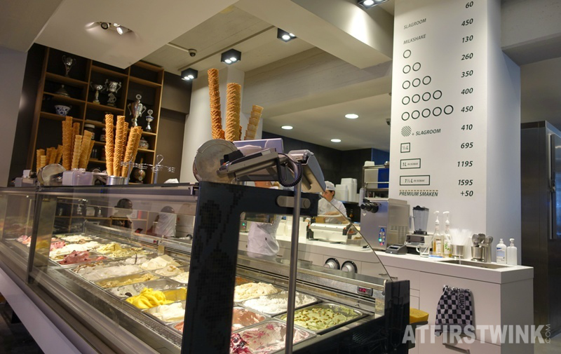 De IJssalon ice cream gelato parlor Meent 69A Rotterdam the Netherlands