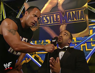 WWE / WWF Wrestlemania X8 -  The Rock makes Coach say his prayers