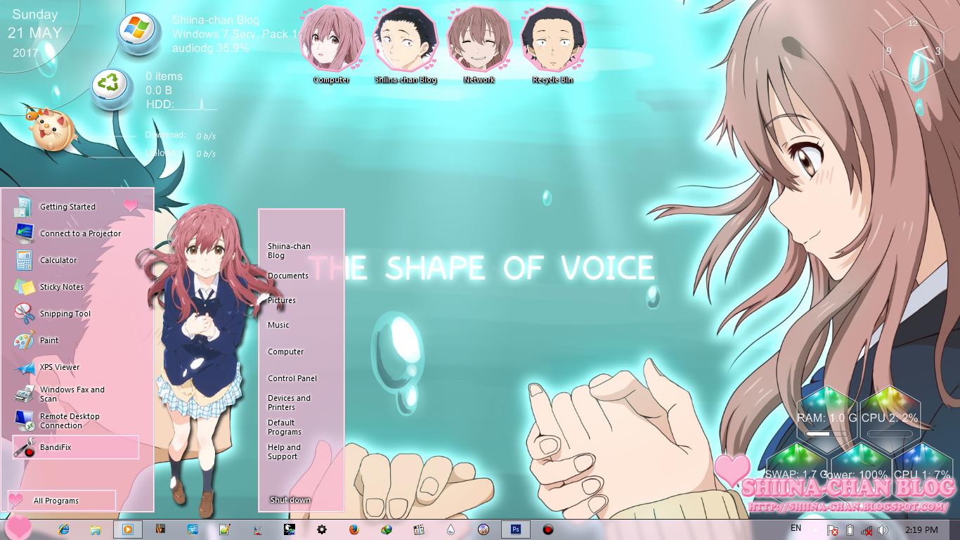 Windows 7 Theme Koe no Katachi by Shiina-chan Blog 1