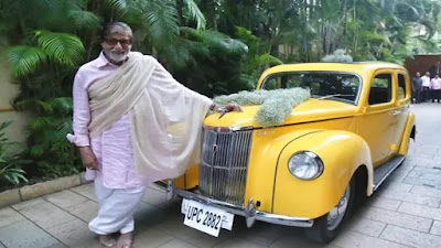 amitabh bachchan with fords perfect car