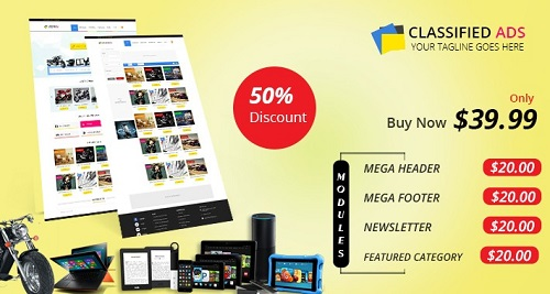 Classified Responsive Opencart Theme - Info