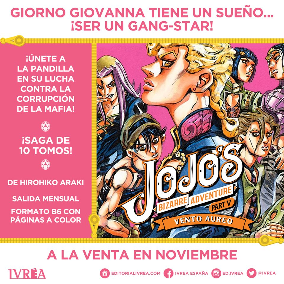 JoJo's Bizarre Adventure Part V: Vento Aureo