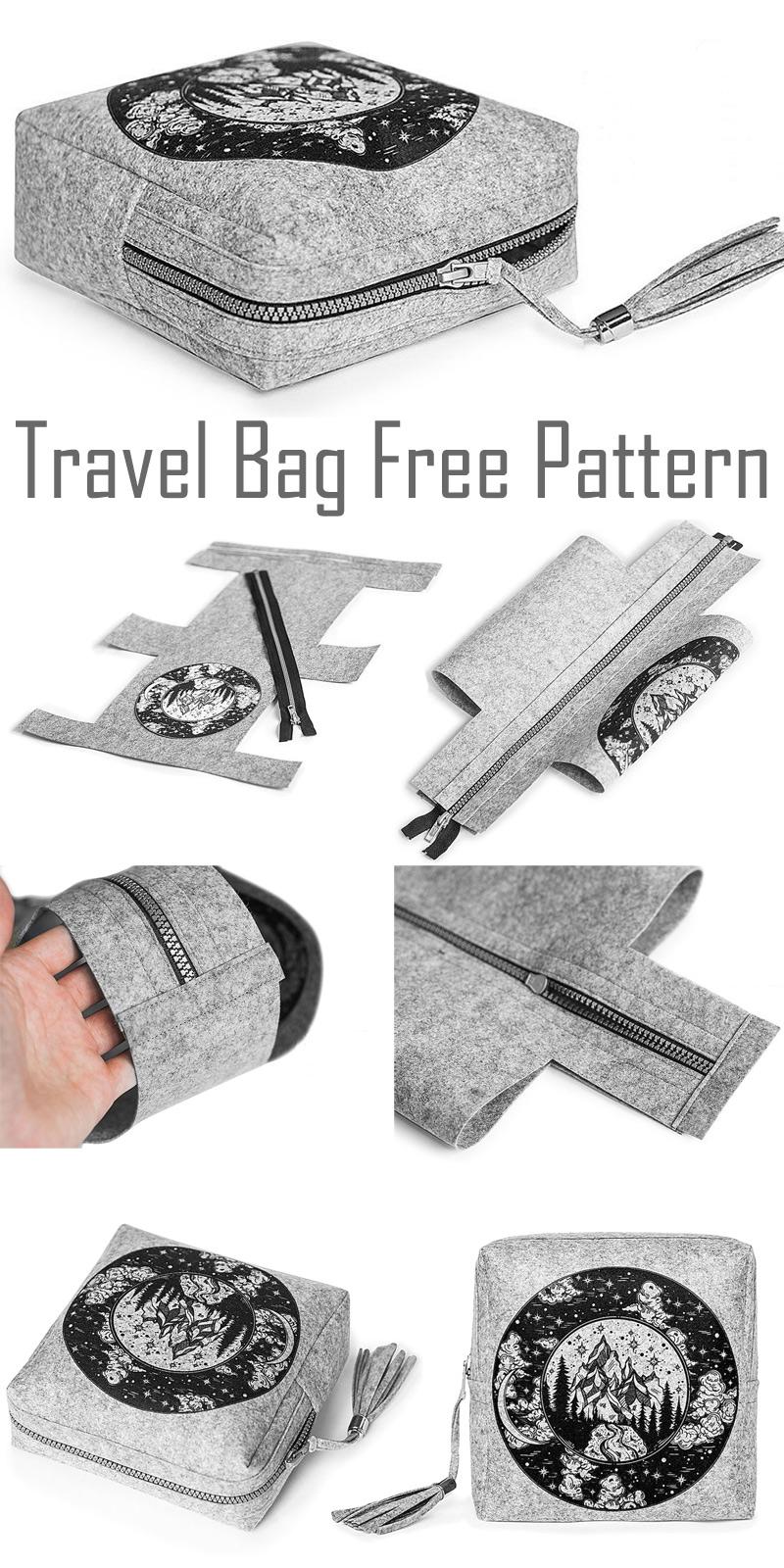 Travel Cosmetic Bag Pattern & Tutorial