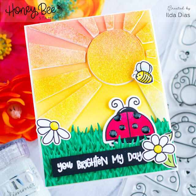 Lady, You Brighten My Day Friendship Card for Honey Bee Stamps by ilovedoingallthingscrafty.com