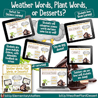 Vocabulary Builder: Weather Words, Plant Words, or Desserts?