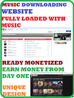 Ready Monetized Music Downloading Website