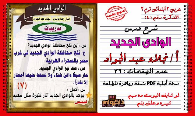 تحميل شرح درس الوادى الجديد منهج اللغة العربية للصف الثانى الابتدائى الترم الثانى 2020