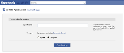 To Create Facebook Application Provide Essential Information
