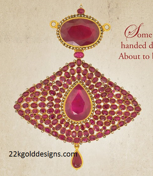 Precious Antique Ruby Pendant