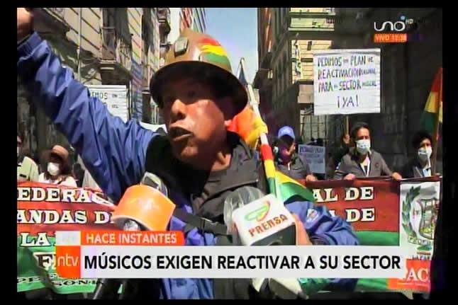 Músicos de El Alto exigen al Gobierno reactivar su sector; piden gente idónea para Min. de Culturas