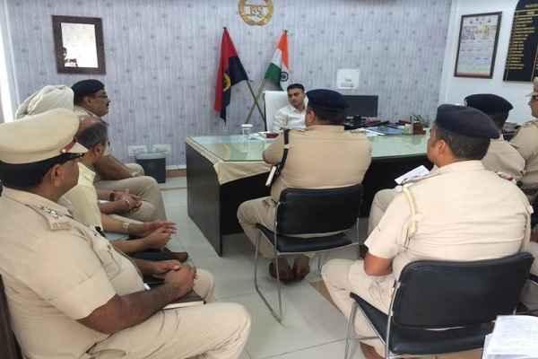 dcp-faridabad-traffic-lokendra-singh-meeting-for-kanwad-yatra-news