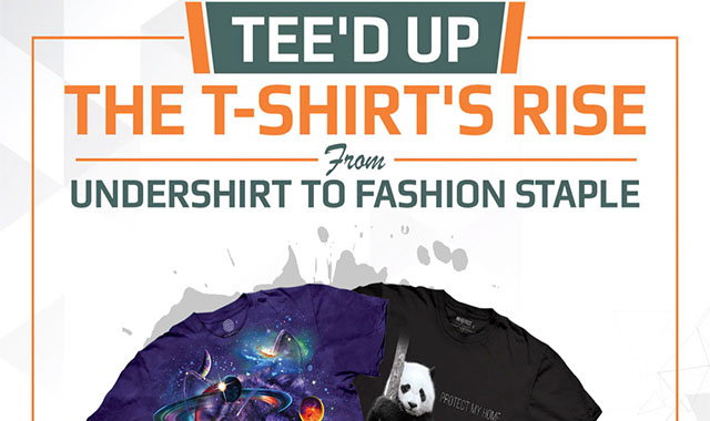 Tee'd Up: The T-Shirt's Rise From Undershirt to Fashion #Tee'd Up: The T-Shirt's Rise From Undershirt to Fashion #infographic