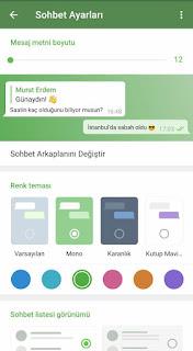 telegram tema ayarlamaları resmi