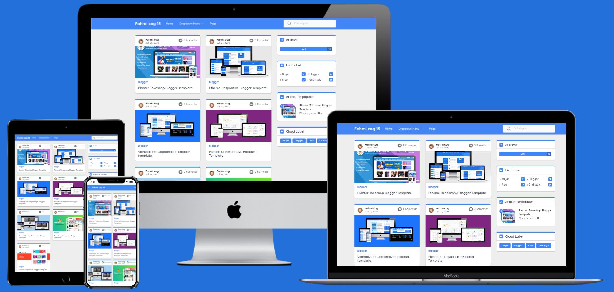 Frezhify Premium Responsive Blogger Template