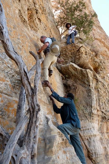 Un tramo del peligroso ascenso hasta la iglesia Abuna Yemata Guh