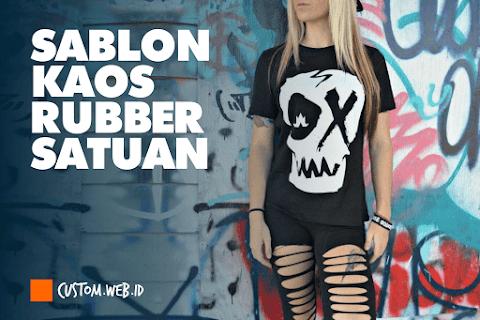 Sablon Kaos Satuan Rubber Matsui Bahan Cotton Combed 30s