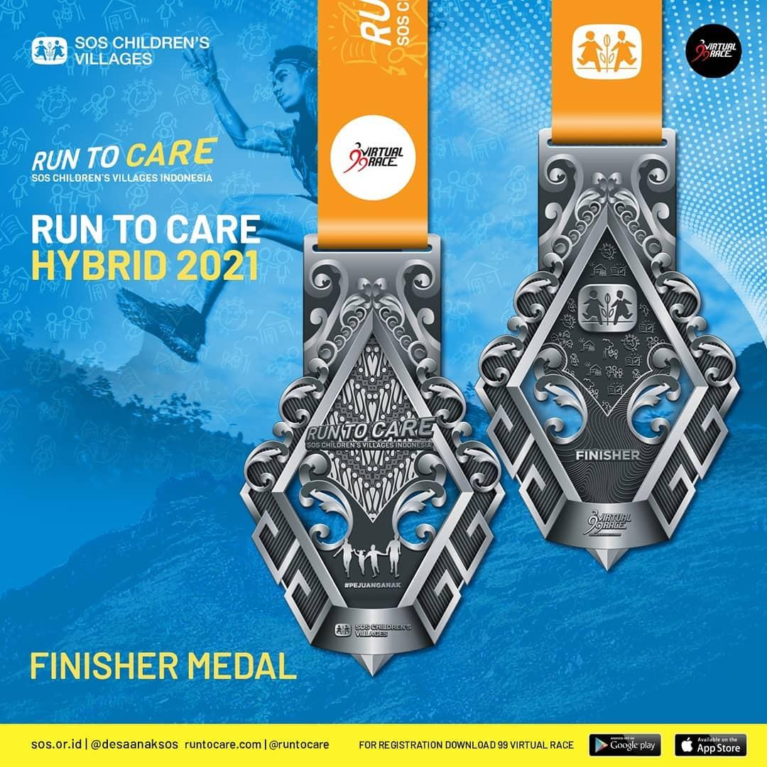 Medali 🏅 Virtual Race #RunToCare Hybrid • 2021