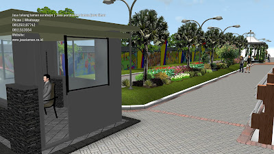 Jasa pembuatan desain taman surabaya