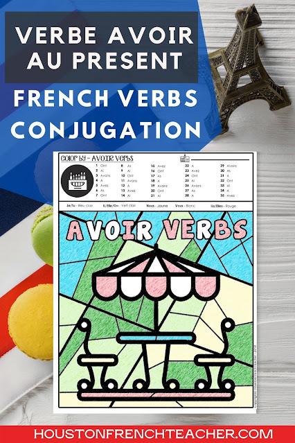 French verbs conjugation - Le verbe AVOIR au présent