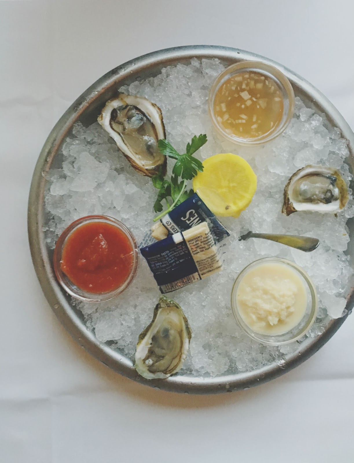 oysters at Eddie V's - A restaurant in Houston, Texas