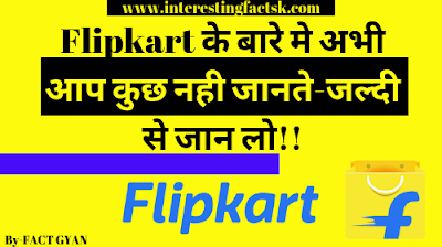 भारत की सबसे बडी Website-Flipkart के बारे मे रोचक तथ्य। Biggest website in India-Flipkart hindi facts,flipkart facts in hindi, flipkart hindi facts, facts about flipkart in hindi,