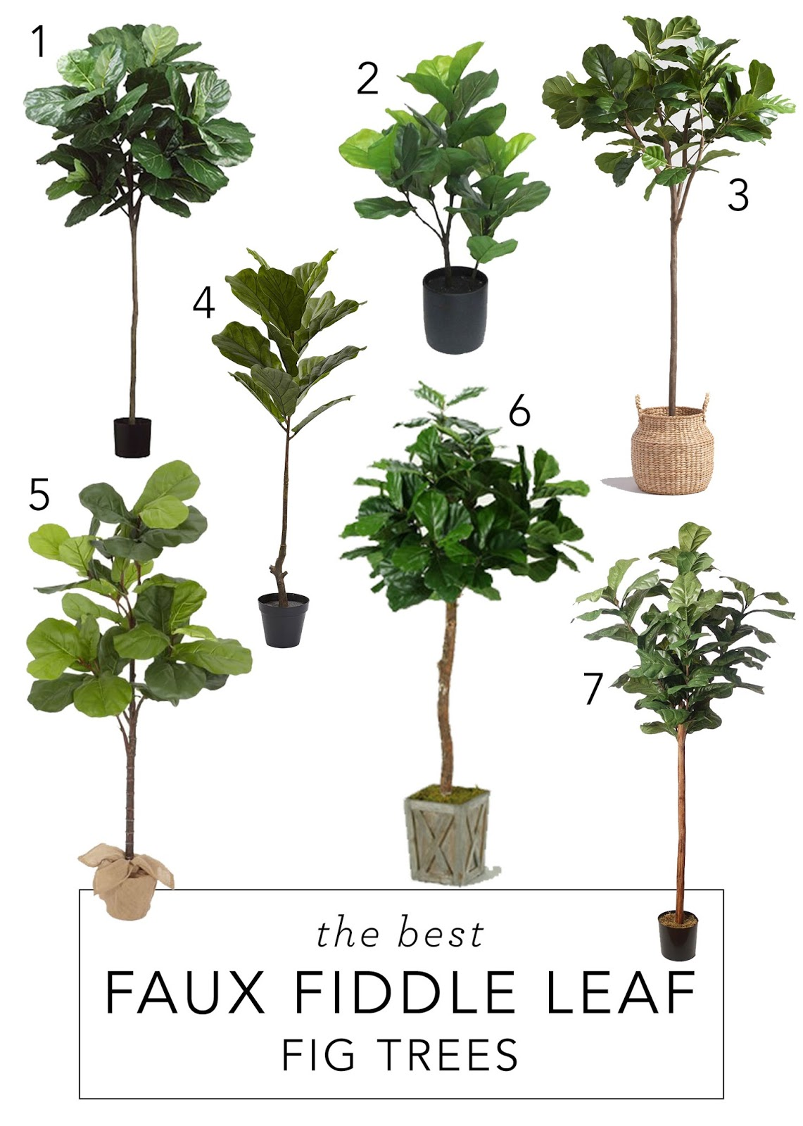 the best faux fiddle leaf fig trees