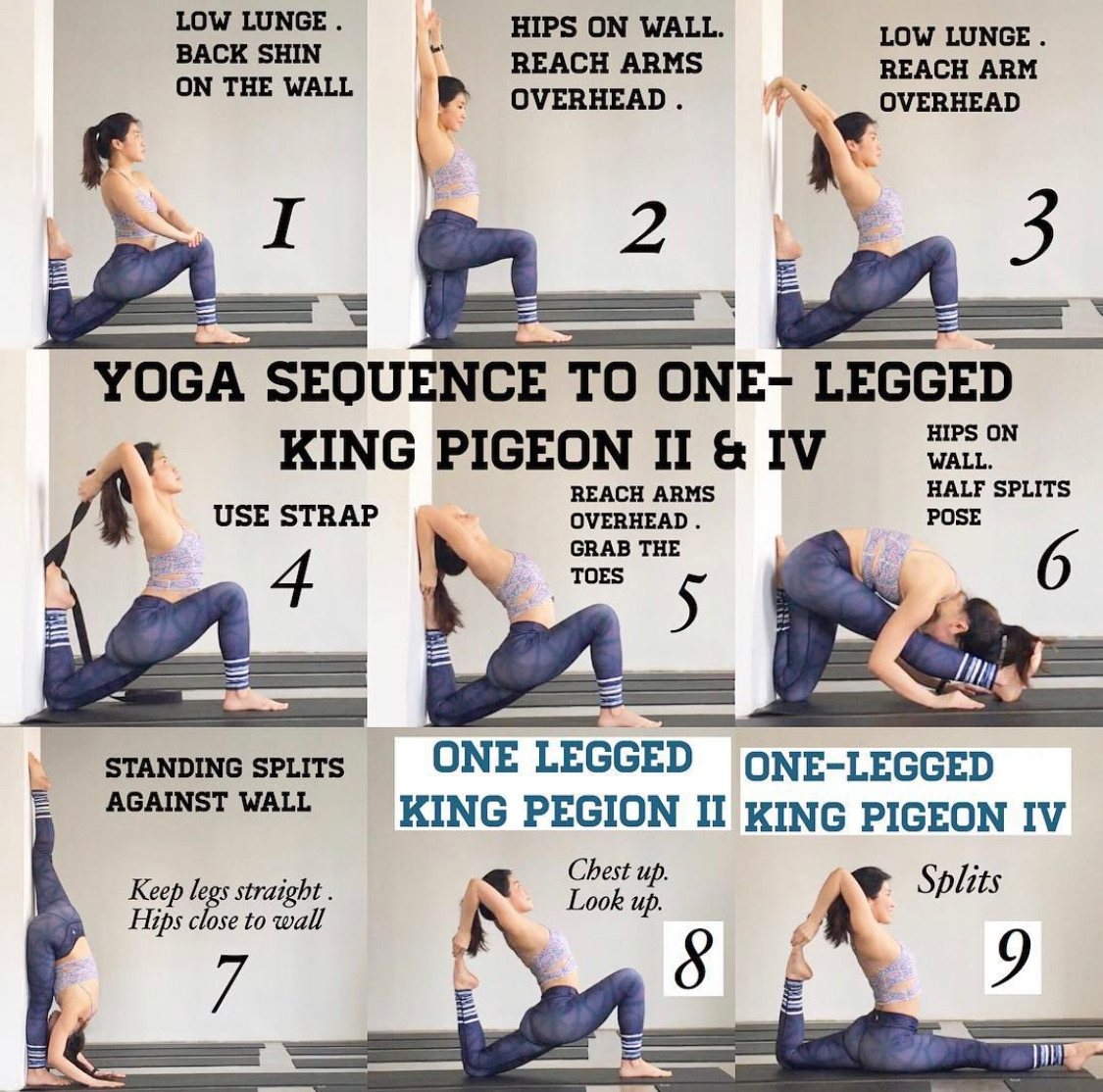 Yoga Sequence For King Pigeon