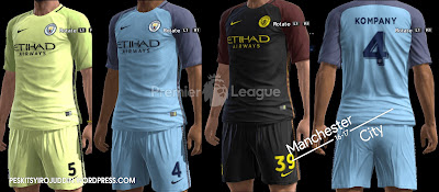 Manchester City Kits 2016/17
