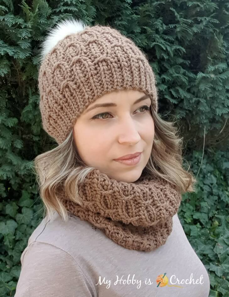 Mock Cable Hat and Cowl - Free Crochet Patterns