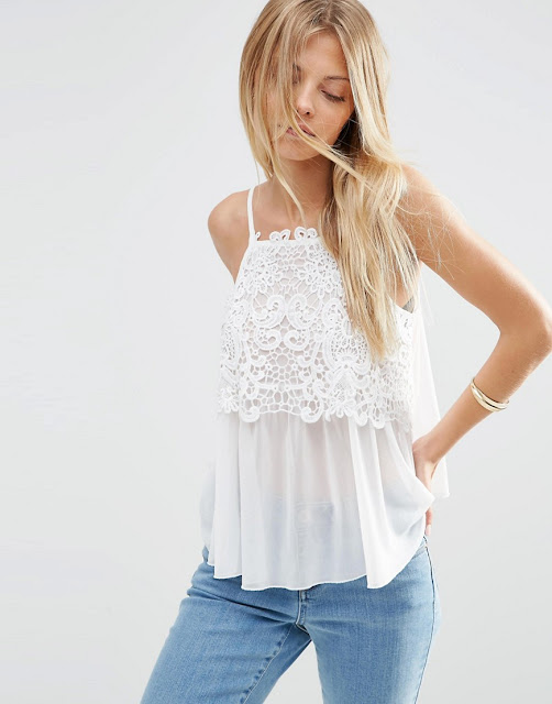 white lace chiffon top,