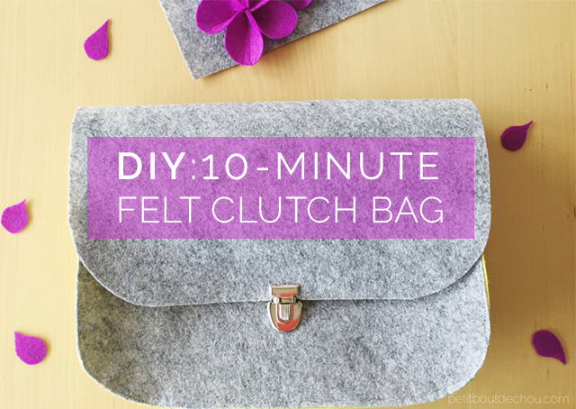 felt clutch bag