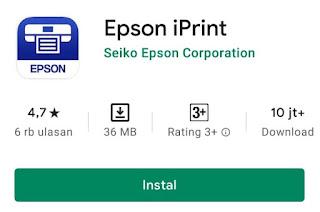 Aplikasi yang digunakan untuk mencetak dokumen di printer Epson