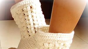 Cómo tejer Botas Pantuflas al Crochet para Todos los Talles / Video Tutorial